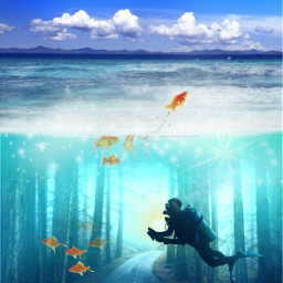 freetoedit underwater surreal ecunderwater