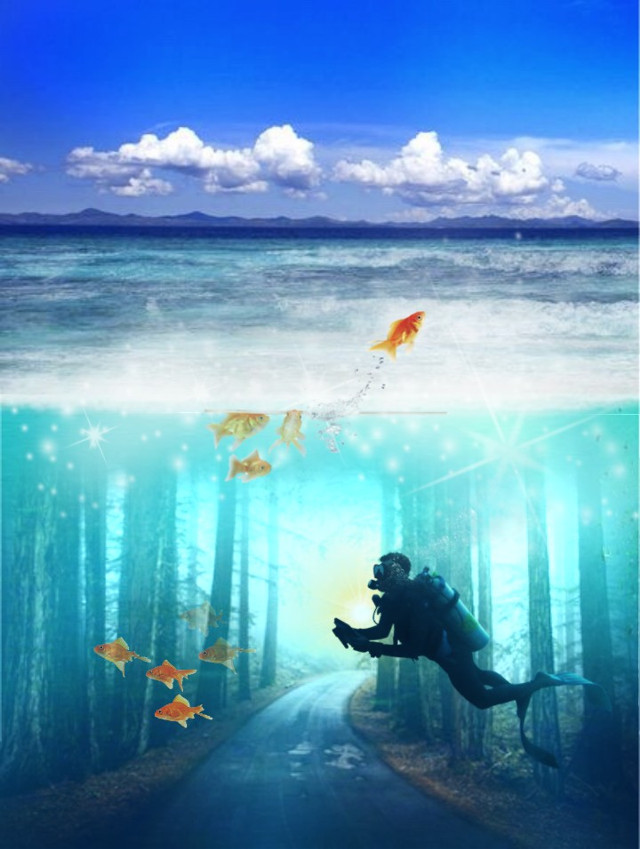 #freetoedit #underwater #surreal