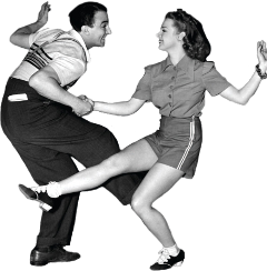 dance retro couple vintage music