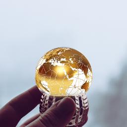 freetoedit hand globe