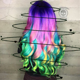 dccolorfulhair colorfulhair freetoedit color swirl