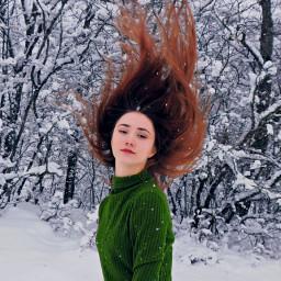freetoedit redhairgirl girl nature art
