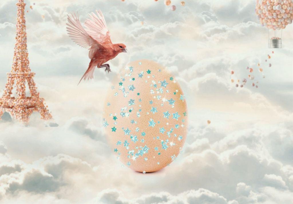 #freetoedit #egg #remixed #clouds