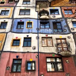 pcfacades facades hundertwasser vienna wien pccolorsofthecity pcwalls pcbalconies