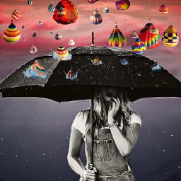 ircflyinhigh flyinhigh freetoedit hotairballoon umbrella