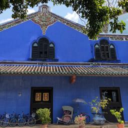 pcfacades facades blue mansion house pcdominantlyblue
