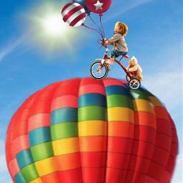 ircflyinhigh flyinhigh bicycleride adventure boyandhisbear freetoedit