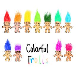 colorful colorido pelo cabello trolls dccolorfulhair