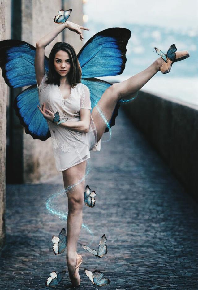 ♥ #freetoedit #edit #picsart #girl #ballet #dancer #magic #butterfly #butterflys #wings #wingsbuterfly #art #visual #visualarts #creative
