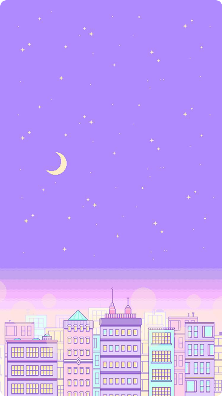 #wallpaper #background #backdrop #pink #orange #green #moon #stars #purple