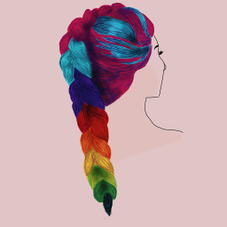 freetoedit fingerdrawing hair colours dccolorfulhair
