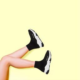 freetoedit shoes balenciaga sticker legs