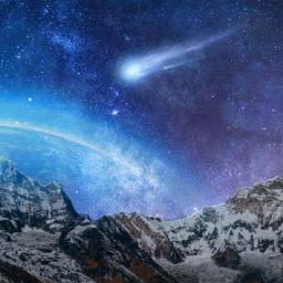 freetoedit galaxy universe space stars
