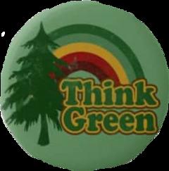 eco pin grey treeoflife vintage