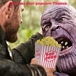ircpopcorn popcorn freetoedit thanos thor