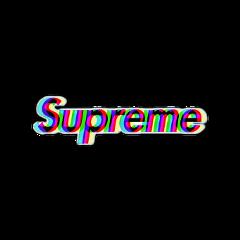 supreme glitch brand aesthetic logo