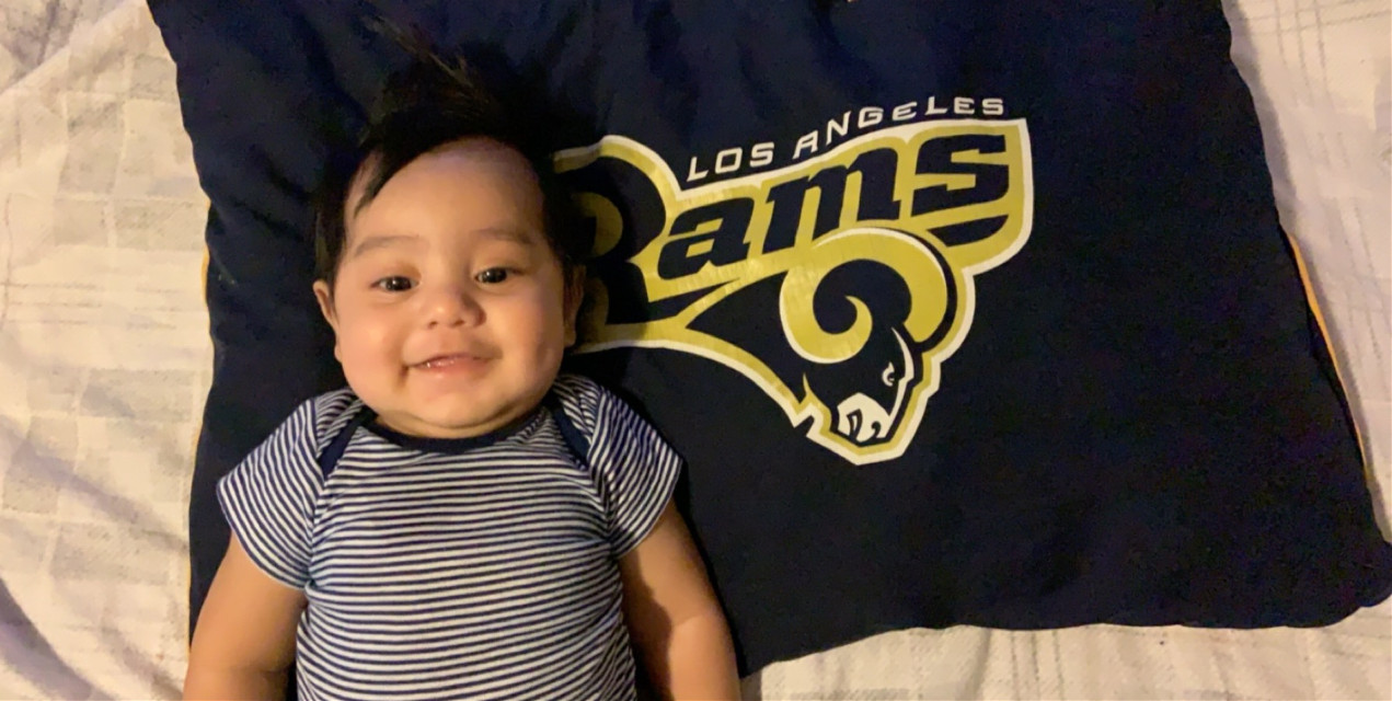 That's Right wooohoooo! I think is going to be Rams vs Patriots Feb 3! Let's goooo RAMS! Baby Rams with his Rams pillow! #NFL #SuperBowl #SuperBowlLlll #53 #LosAngelesRams #Rams #AllTheWay #RamsSuperBowlLlllChamps