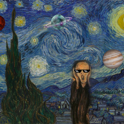 space vangough starrynight scream munch freetoedit
