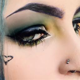 closeup makeupartist makeupgoals bluehair blueaesthetic freetoedit