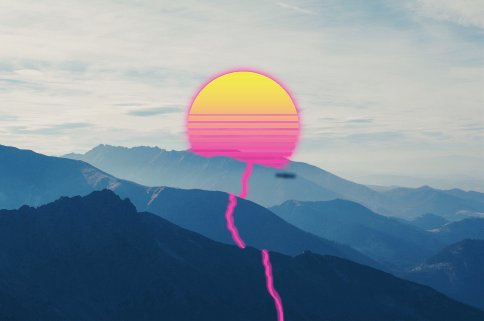 #freetoedit #gradient #sunset #neon #unsplash #flms1 #picsartfilters #mydesign