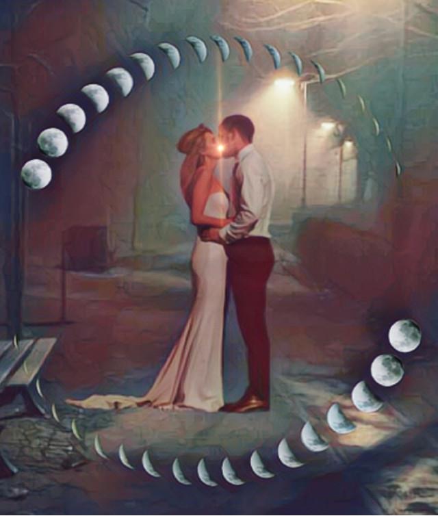 #freetoedit #kiss #glow #moon #lensflare