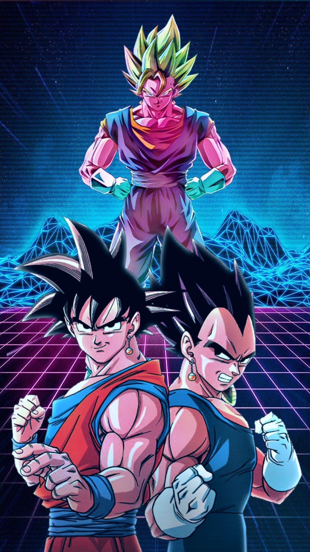 Freetoedit Goku Vegeta Vegeto Wallpaper Neon Dragonball