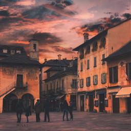 ortasangiulio italy italia sunset nightfall freetoedit