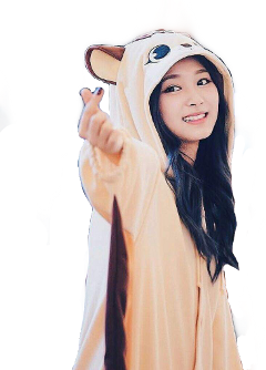 tzuyu cute squirrel beige creamy