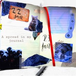 journal spread creative freetoedit