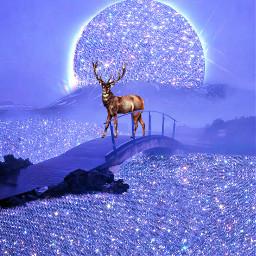 freetoedit glitter deer curvestool