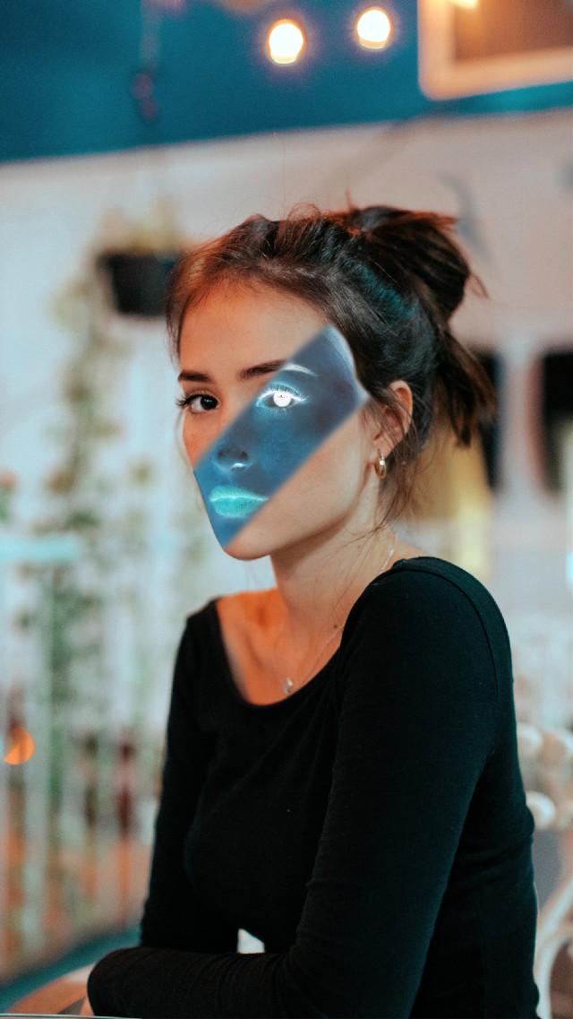 #freetoedit #girl #filter #twofaces
