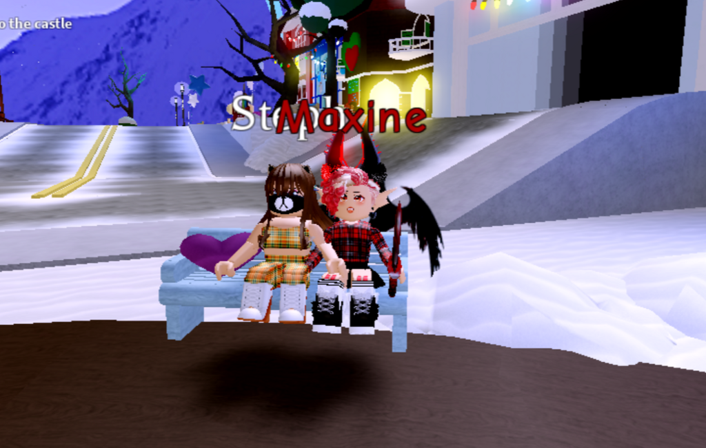 me and my cousin XD shes a noob but she just go robux