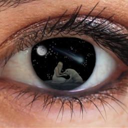 stars fallingstar moon wolf remixit freetoedit