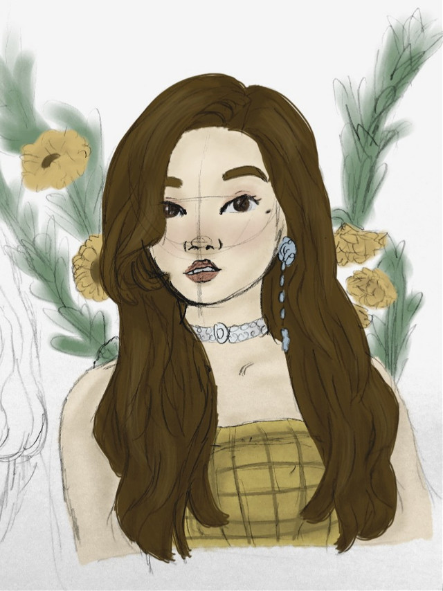 Colored the Eunbin drawing! Idk how I feel about it   #freetoedit #kpopfanart #kpop #art #drawing #myart #mydrawing #fanart #clc #Eunbin