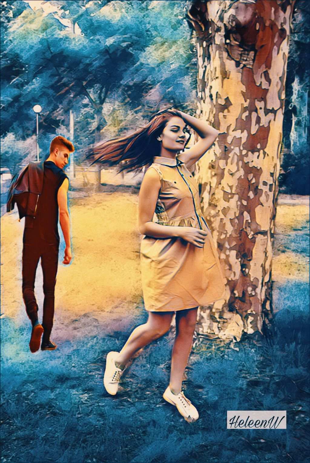 #vipshoutout to @serg.60.denis Look to his gallery and give him some love #girl #boy #forest #fantasy #surrealism #colored #madewithpicsart #myedit #myart #mystyle #freetoedit