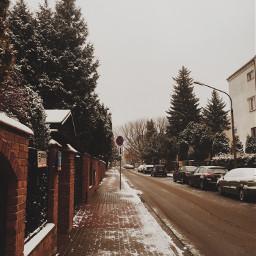 snow winter wonderland europe warsaw freetoedit