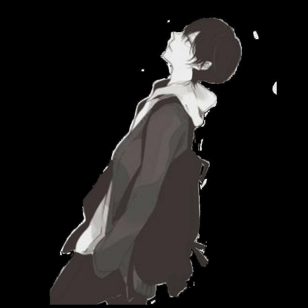Anime sad black depression depressed