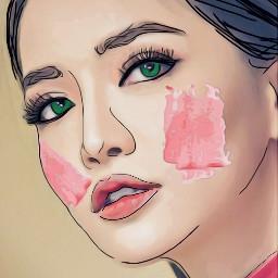 srcpinkbrush pinkbrush freetoedit outlines blush