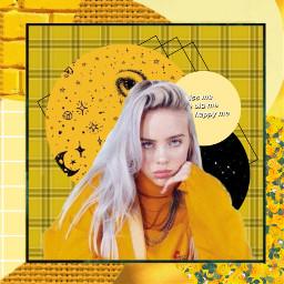 freetoedit billieellish yellow aesthetic