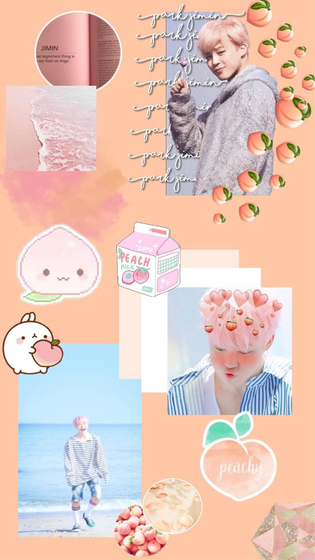 #freetoedit #Jimin #ParkJimin #Chimchim #Mochi #Chimmy #BTS #Peach #Peachy #Aesthetic #Tumblr #WallpaperBTS #Wallpaper #WallpaperJimin #AestheticWallpaper #KPOP