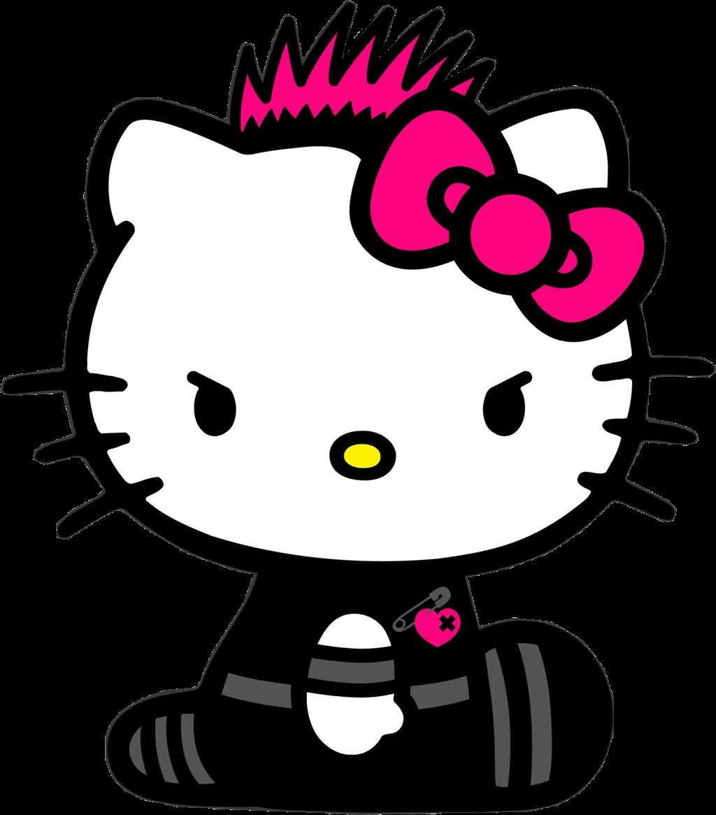 hello kitty grunge black cute goth punk freetoedit...