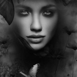 freetoedit darkart_saturday blackandwhite bestofpicsart beauty