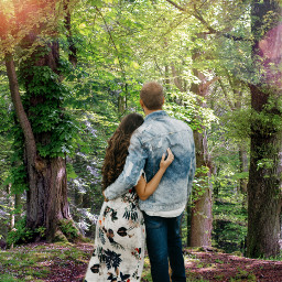 freetoedit couple forest love free