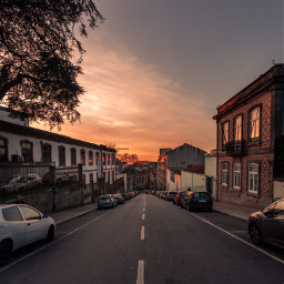freetoedit picsart sunsetsky sunset streetphotography