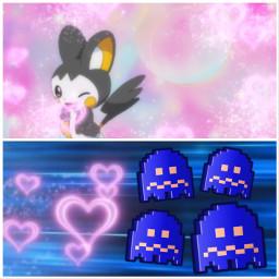 pacman emolga pokemon crossover