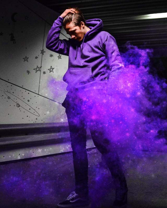 #freetoedit #galaxy #colorpowder #cloud #stars #purple