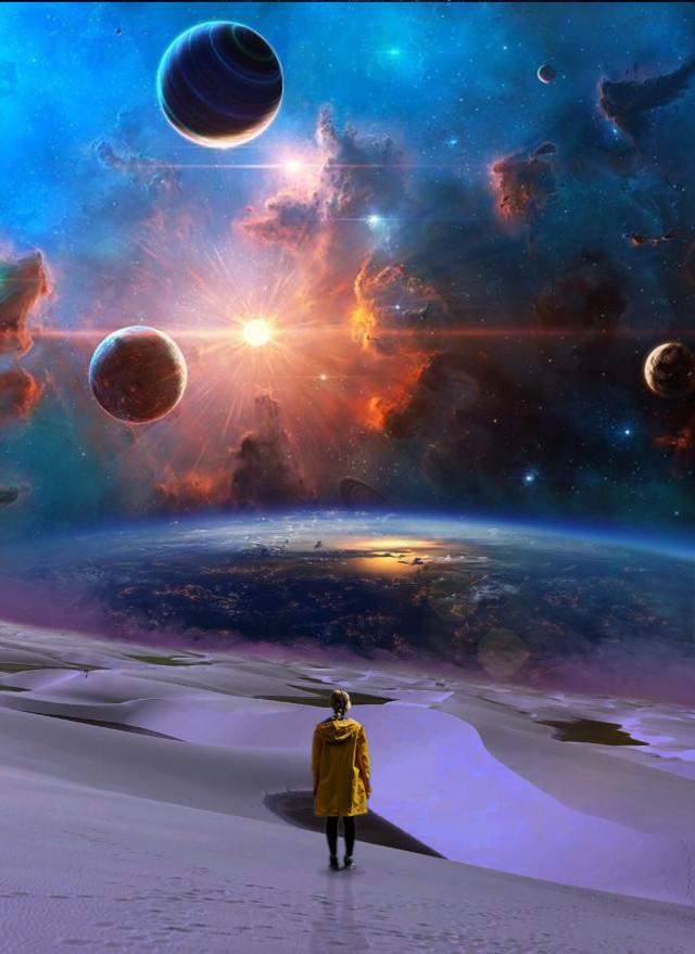 #freetoedit #galaxy #deserted #deserto #lonely #edit #editedbyme #surreal #manipulation #creative #create @picsart