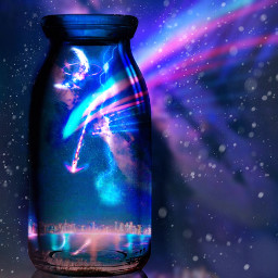 freetoedit botella universo