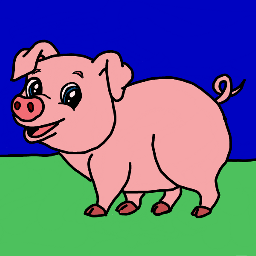 freetoedit pinkpig pig pink drawing dcpinkpig