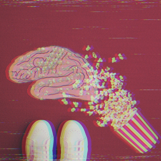 It's time for some popcorn and shut down your brain 🤗 insta: @p.teres #popcorn #movie #doodle #drawing #interesting #shoes #friday #flatlay #happy #fun #art #brain #freetoedit